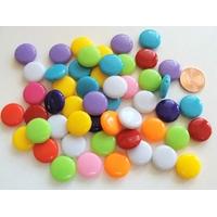 Perles Acrylique Galets 14x5mm MIX couleurs par 50 pcs