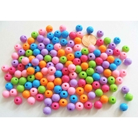 Perles Acrylique Rondes 8mm MIX couleurs unies par 150 pcs
