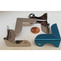 COIN 3D Deco lisse 36x36x18mm métal argenté par 4 pcs
