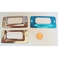 PORTE-ETIQUETTES Rectangle métal argenté 68x33mm MOD5 par 5 pcs