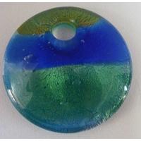 Pendentif VERRE rond 5cm 3 couleurs 01 par 1 pc