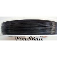 FIL CABLE 0,30mm NOIR par 1 bobine/50m