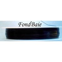 FIL CABLE 0,38mm Noir par 1 bobine/70m