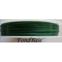 FIL CABLE 0,38mm VERT FONCE par 1 bobine/50m