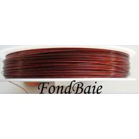 FIL CABLE 0,38mm ROUGE par 1 bobine/50m