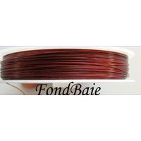 FIL CABLE 0,45mm ROUGE par 1 bobine/50m