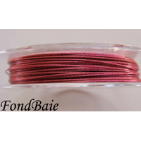 FIL CABLE 0,45mm ROSE VIOLET par 1 bobine/50m