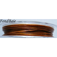 FIL CABLE 0,45mm MARRON DORE par 1 bobine/50m