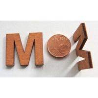 Support Bois 22mm LETTRE M par 1 pc