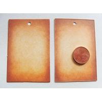 Etiquettes carton 60x40mm marron parchemin par 20 pcs