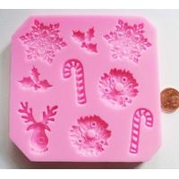 MOULE silicone rose NOEL FETES par 1 pc