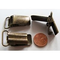 Pinces bretelles 32x18mm métal couleur Bronze par 4 pcs