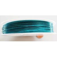 FIL CABLE 0,45mm BLEU VERT par 1 bobine/50m