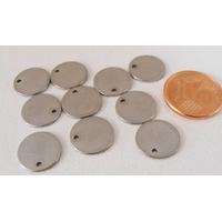Breloques Médaillon rond 10,5mm vierge par 10 pcs