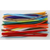 Chenilles Cure-pipe 30cm MIX couleurs par 50 pièces