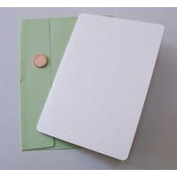 Carte pliée 105x152mm avec enveloppe verte par 2 pcs