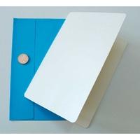 Carte pliée 105x152mm avec enveloppe bleue ciel par 2 pcs