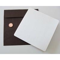 Carte pliée 132x132mm avec enveloppe Marron par 1 pc