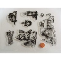7 tampons silicone clear stamp  NOEL HIVER mod4