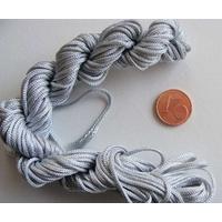 fil nylon tresse gris 1,5mm p2