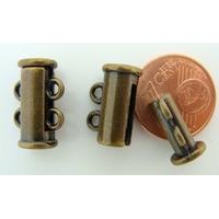 1 FERMOIR 2 rangs magnétique métal Bronze 15mm par 1 pc