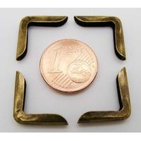 Angle 15x3mm métal couleur Bronze simple par 20 pcs