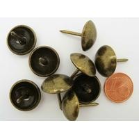 Clous Tapissier Tête lisse 16mm Hauteur 20mm couleur Bronze par 20 pcs