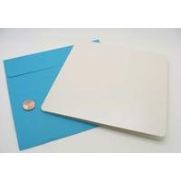 Carte pliée 160x160mm avec enveloppe bleu par 2 pcs