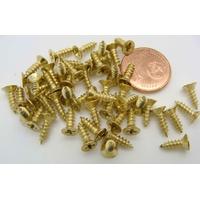 Petites Vis 8,5mm métal couleur dorée par 50 pcs