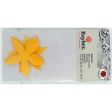 decoupe papier deco fleur jaune 01