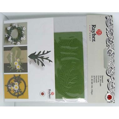 decoupe papier feuille vert rayher 14
