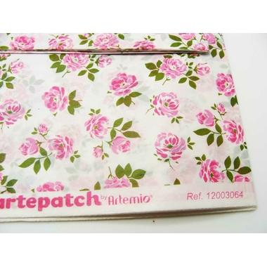 papier artepatch fleurs roses artemio