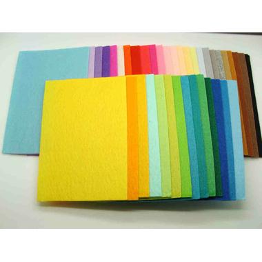feuilles feutrine tissu multicolore 1mm 15x10