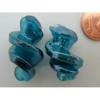 perle verre vis bleu vert