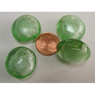 perle galet 20mm murano vert