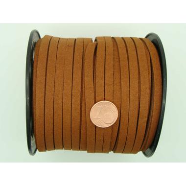 suedine 5mm marron cordon