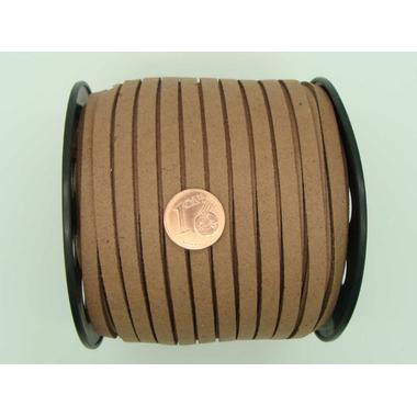 suedine cordon 5mm marron fonce cordon