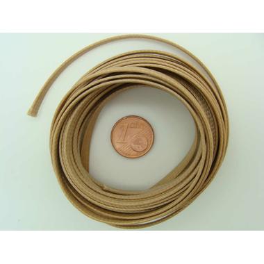 fil nylon plat 4mm marron