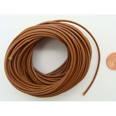 fil polyester cire 15mm marron