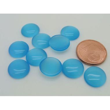 cabochon oeil de chat r11 bleu azur