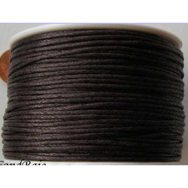 fil coton cire bobine 1mm marron fonce