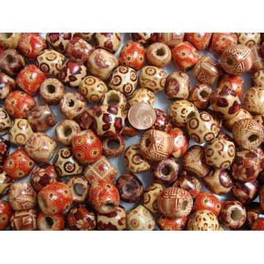 perles bois tonneaux mix pb18