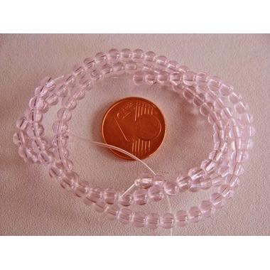 perle verre simple 3.5mm rose
