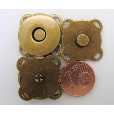 fermoir plat bronze 19mm aimant