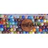 Perles verre Millefiori rondes 4mm MIX par 95 pcs
