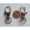 Fermoirs mousqueton porte-clés 35mm ARGENT VIEILLI par 5 pc