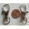 Fermoirs mousquetons porte-clés 35mm ARGENT VIEILLI par 50 pc