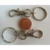 Fermoirs mousqueton 32mm avec anneau porte-clef 20mm ARGENT VIEILLI par 2 pcs