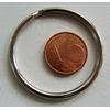 Anneaux brisés 35mm PORTE-CLE simple argenté par 50 pcs