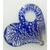 pendentif coeur bleu fonce silver foil Pend-133